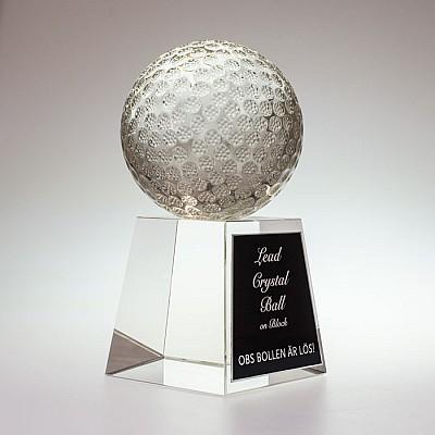 Golfstatyett Glasboll - 190mm