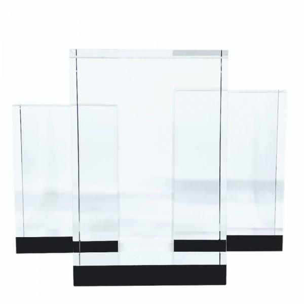 Glaspris i stilren design med gravyr