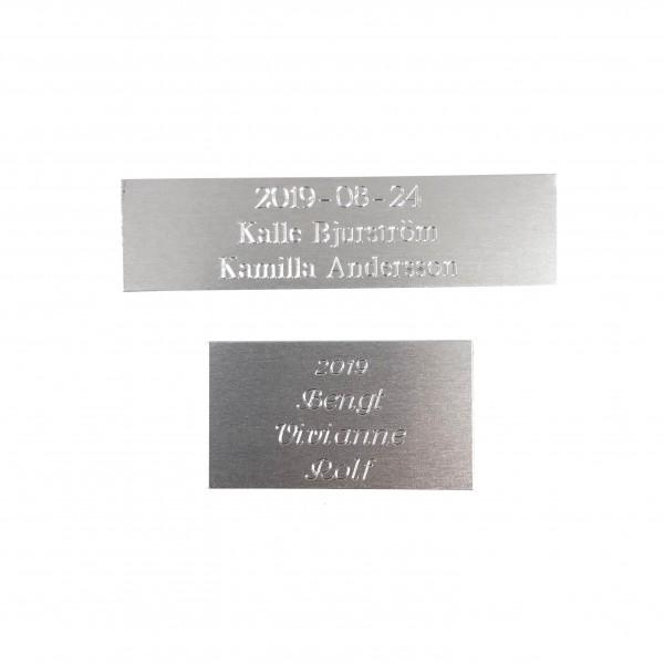 Borstad Aluminiumskylt - Silver