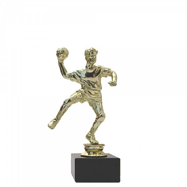 Snygg handbollsstatyett i guld