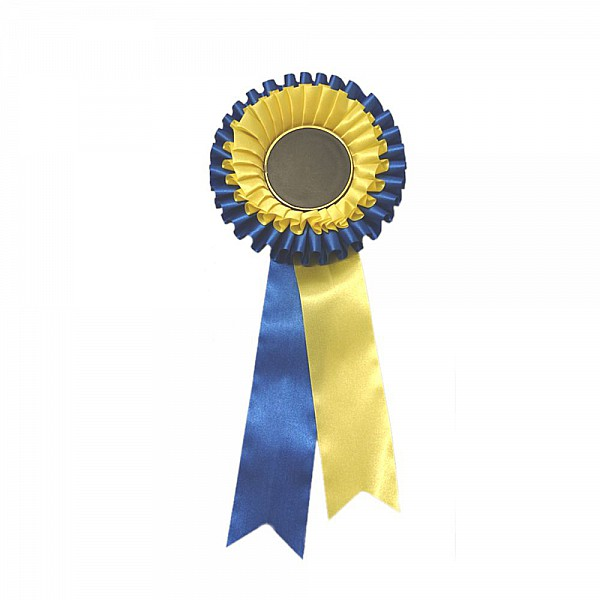 Prisrosett 2-Krans Blå/Gul