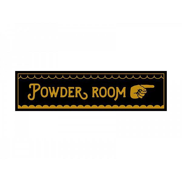 Pinchos skylt #9 POWDER ROOM, finger höger 260x70mm