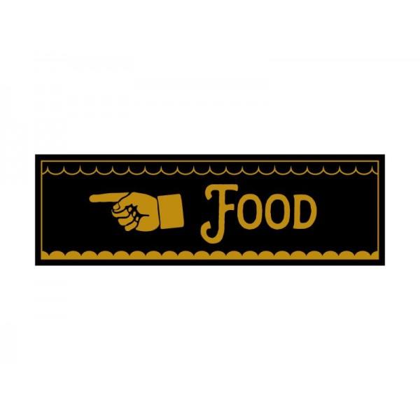 Pinchos skylt #13 FOOD, finger vänster 260x80mm