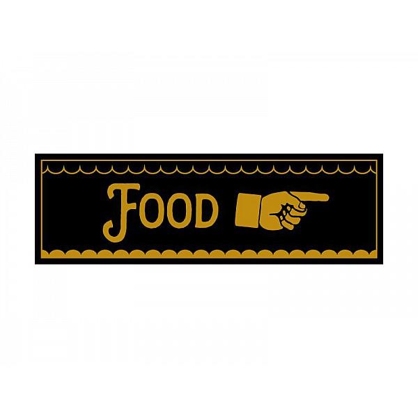 Pinchos skylt #14 FOOD, finger höger 260x80mm