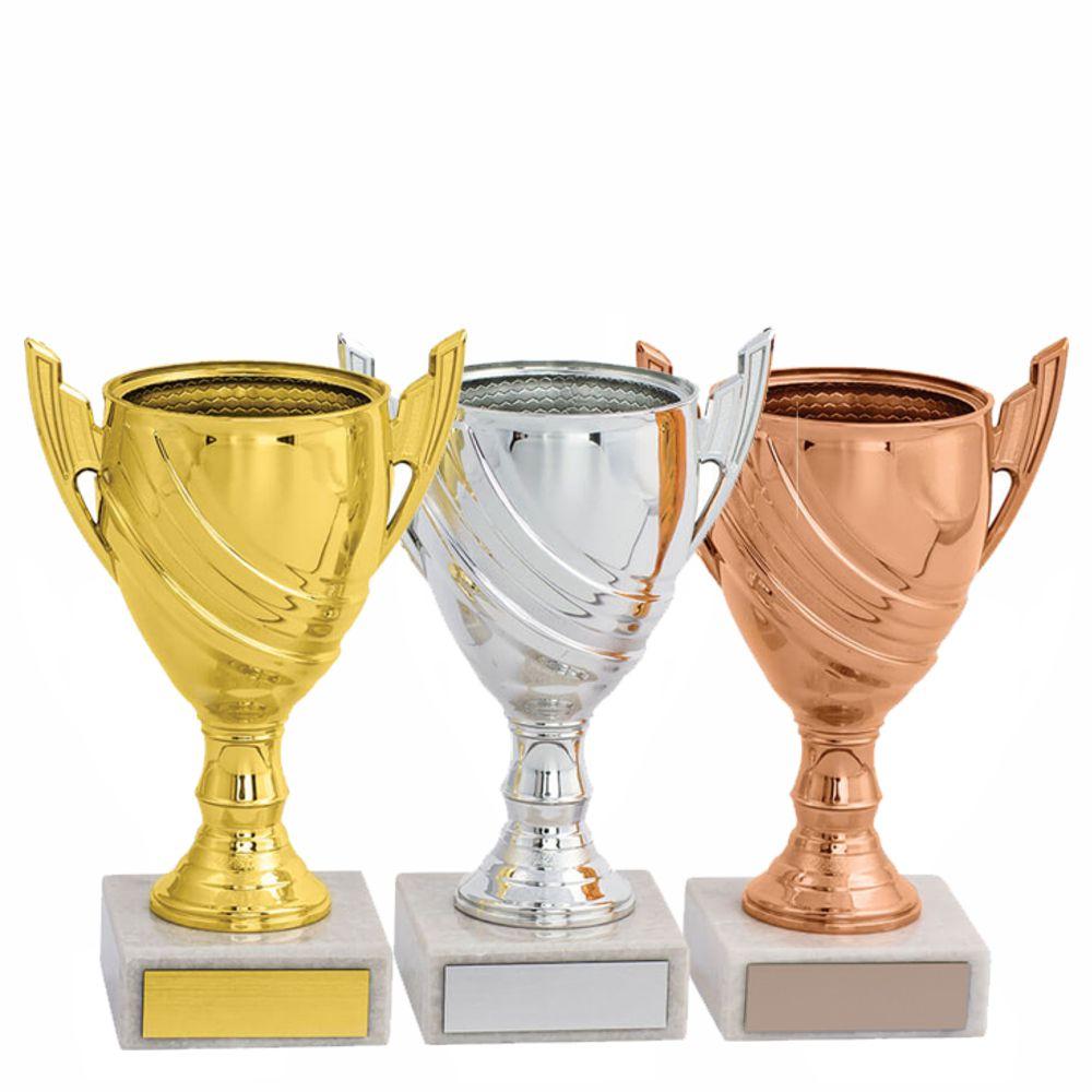 Liten Fin Pokal I Guld Silver Eller Brons