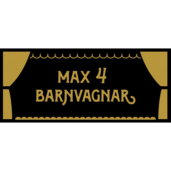 Pinchos skylt #30 Max Barnvagnar 300x13mm