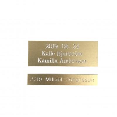 Borstad Aluminiumskylt - Guld